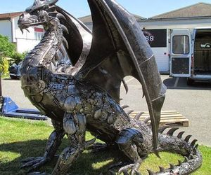 dragon, metal, and art image