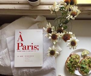 book, flowers, and avocado image