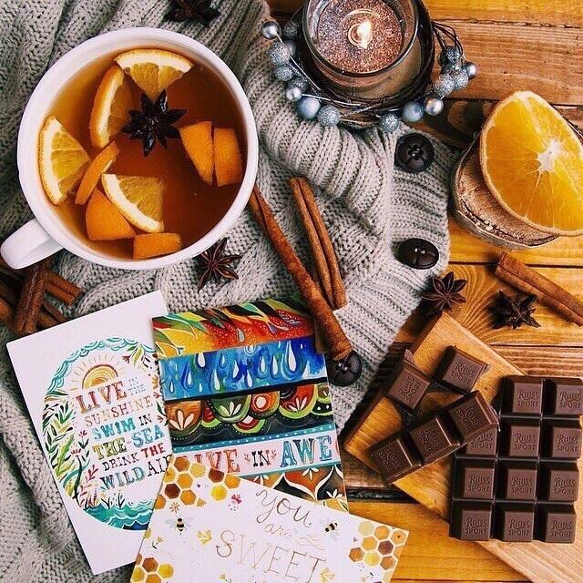 Cinnamon, chocolate, and tea image