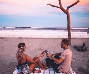 beach, picnics, and fashion image