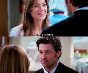 ellen pompeo, patrick dempsey, and greys anatomy image