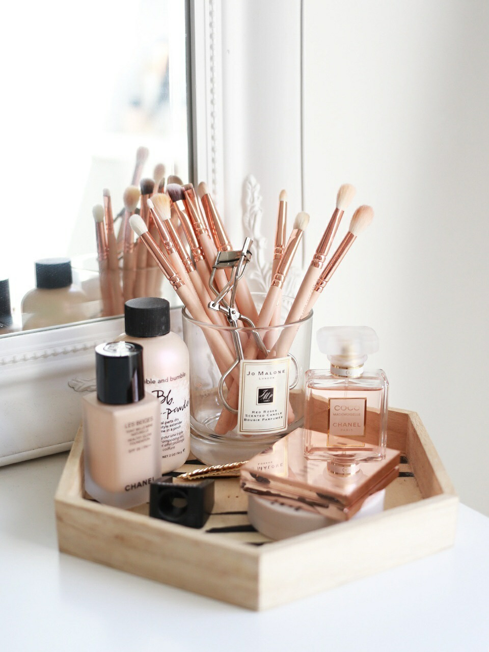 Brushes, makeup, and love image