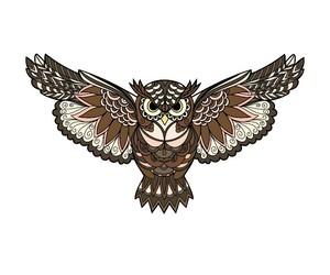 owl and mandala image