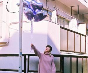 balloons, girl, and japan image