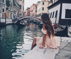 girl, venice, and dress image