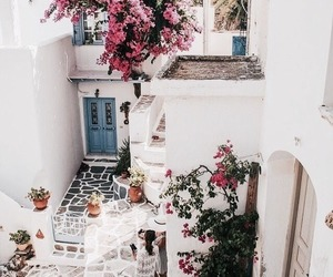 blue, door, and Greece image
