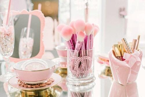 pink, makeup, and vintage image