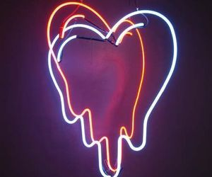 neon, tumblr, and love image