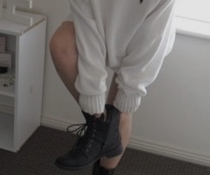 fashion, boots, and white image
