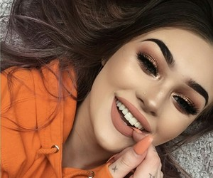 makeup, smile, and goals image