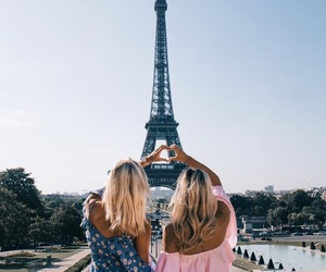 friends, girl, and paris image