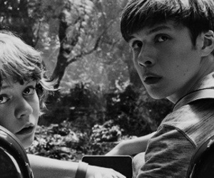 black and white, nick robinson, and jurassic world image