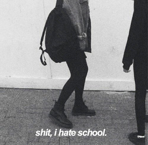 black, school, and hate image