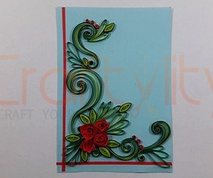 handmade card, quilling, and paper quilling image