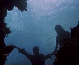 mermaid, water, and love image