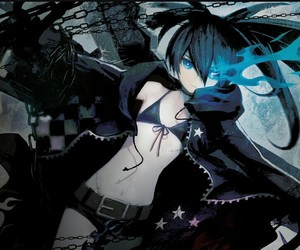 anime, anime girl, and black rock shooter image