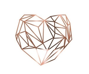 wallpaper, heart, and rose gold image
