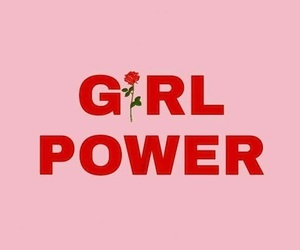 girl power, header, and pink image