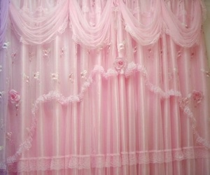 pink, pastel, and curtains image