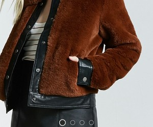 fashion, fur jacket, and forever 21 image