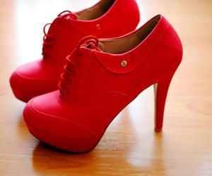 red and shoes image