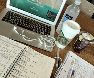 school, study, and coffee image