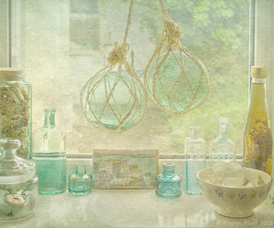 bottles, cottage, and green image