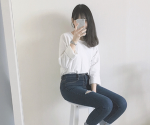asian, girl, and casual image