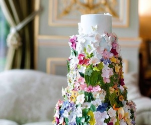 beautiful, cake, and wedding cake image