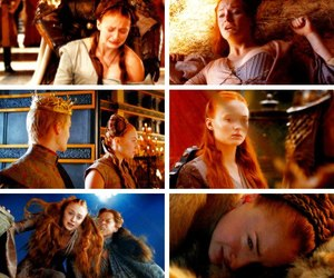 arya stark, sansa stark, and game of thrones image