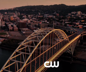 arrow, city, and Supergirl image