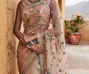 beautiful, model, and saree image