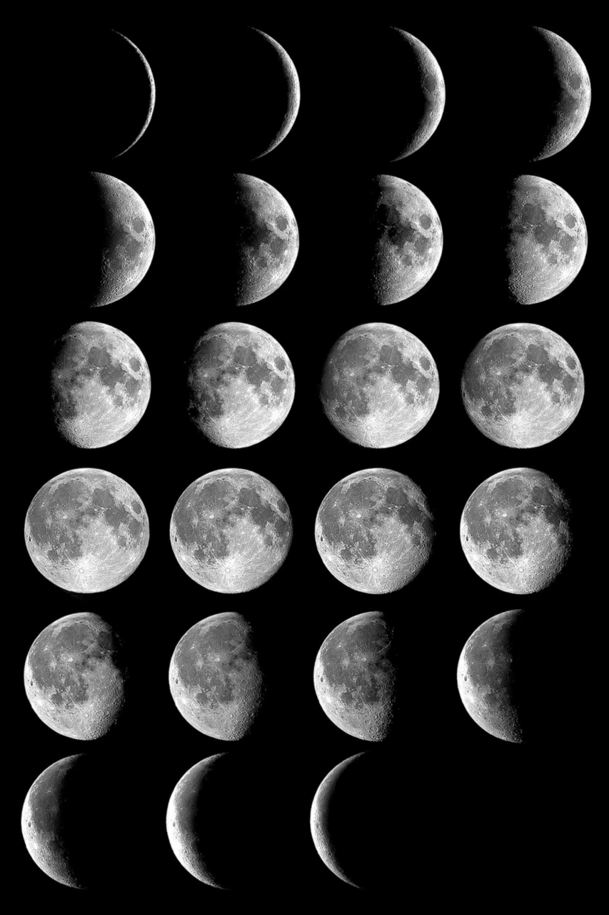 Moon Phases Discovered By Sara On We Heart It