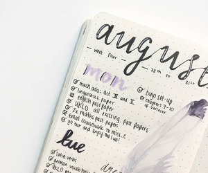 college, bujo, and studyblr image