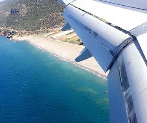 airplane, sea, and turkey image