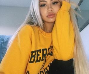 girl, yellow, and beauty image