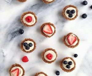 blueberry, cake, and cream image