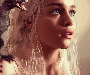 game of thrones, dragon, and daenerys targaryen image