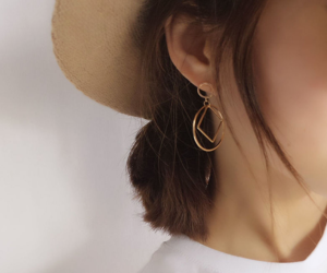 earrings, minimalism, and clothing image