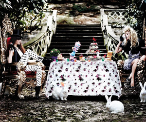 alice in wonderland, wonderland, and tea party image