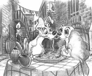 art, disney, and dogs image
