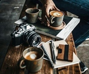 camera, coffee, and hot drinks image