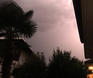 clouds, home, and lightning image