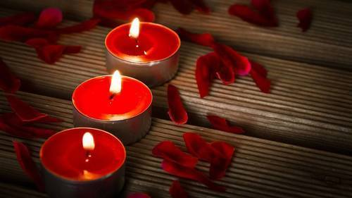 candle and red image