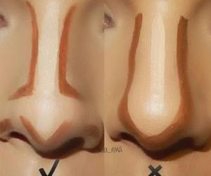 makeup, nose, and contour image