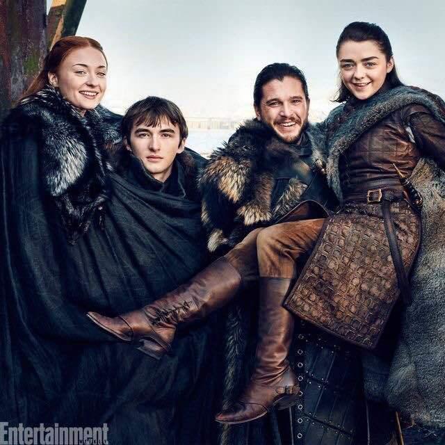 game of thrones, arya stark, and jon snow image