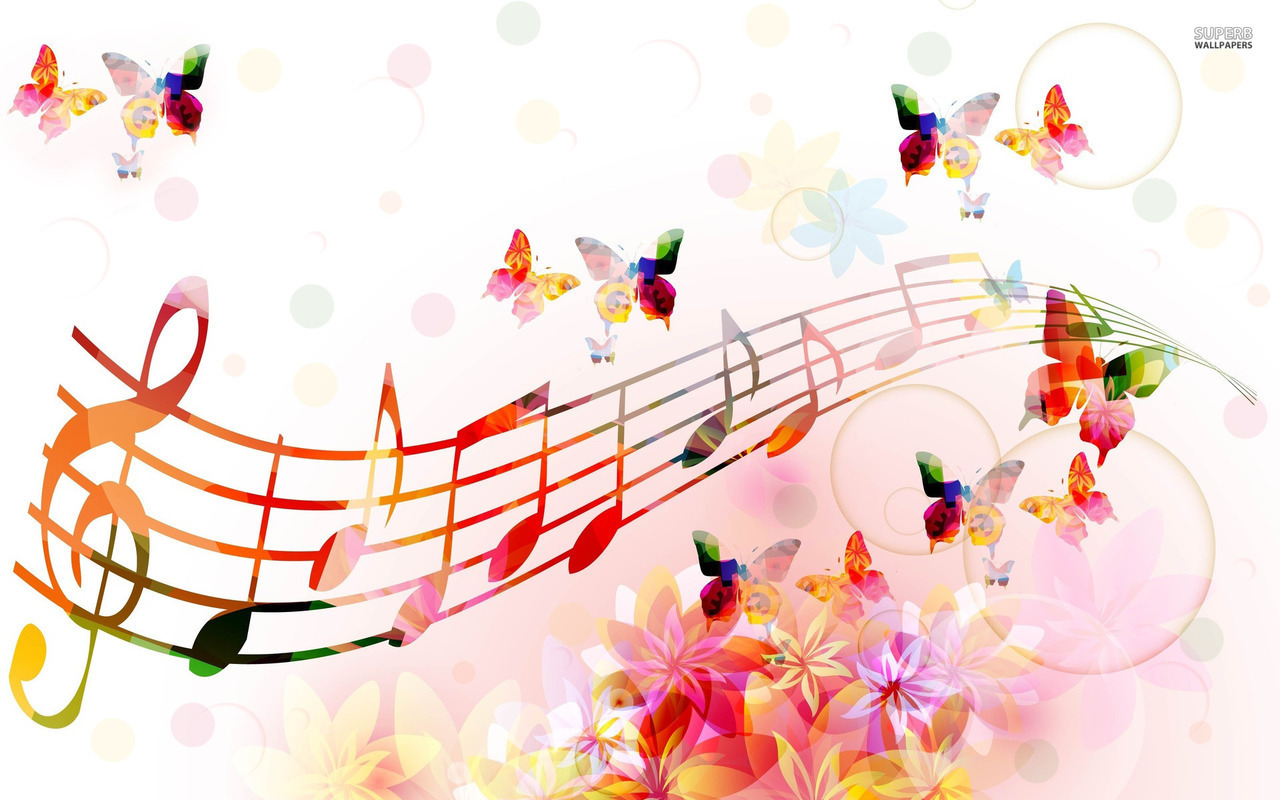music and butterfly image