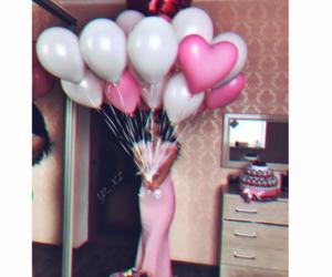 amour, ballon, and couple image