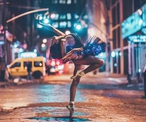 light, dance, and girl image