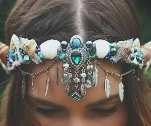 blue, crown, and fashion image